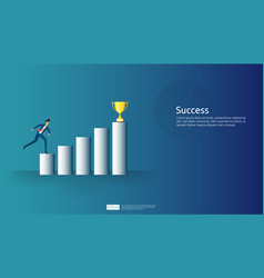 Business success concept with arrow up graphic vector