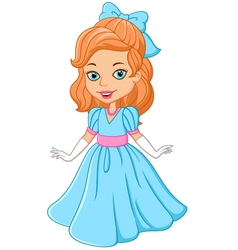 Cartoon beautiful princess vector