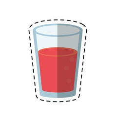 cartoon glass cup juice nature vector image