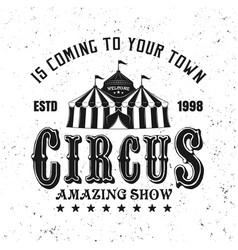 circus amazing show black vintage emblem vector image