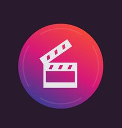 clapperboard cinema movie icon vector image