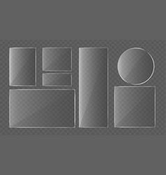 collection glass plates vector image
