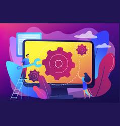 Computer service concept vector