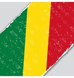 Congolese grunge flag vector