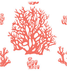 coral seamless pattern living coral vector image