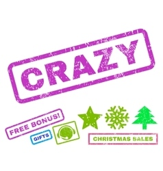 Crazy Rubber Stamp vector