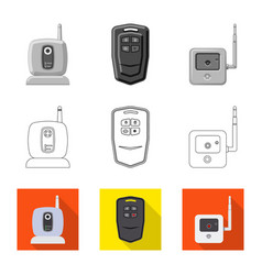 Design of office and house icon collection vector