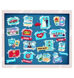 Dreams vision board vector