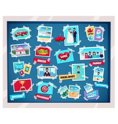 dreams vision board vector image
