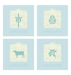 Easter Cards Set vector image