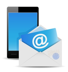 envelope and phone vector image