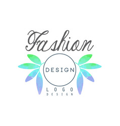 Fashion logo design badge for spa cosmetician vector