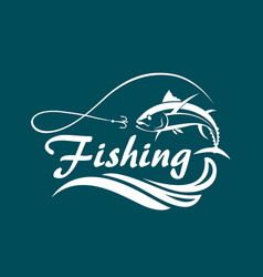 fishing sport emblem vector image
