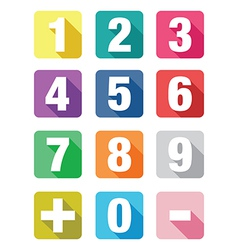 flat number signs vector image