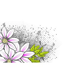 flower on the abstract background vector image