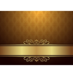 Golden Background With Luxury Design vector