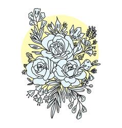 graphical flower black flower vector image