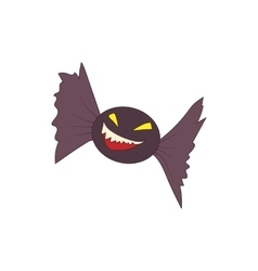 Halloween bat icon in cartoon style vector