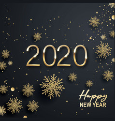 happy new year 2020 text design conceptual design vector image