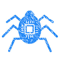 Hardware bug grunge icon vector