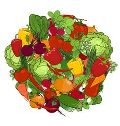 Healthy food fresh vegetables vector