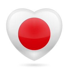 Heart icon of Japan vector