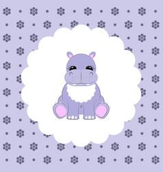 Hippo baflat vector