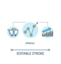 Inflation concept icon financial crisis economic vector