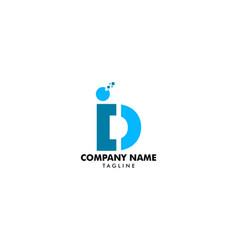 initial letter di logo design template vector image