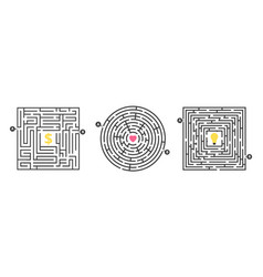labyrinth game fun maze puzzle for leisure time vector image