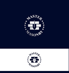 logo for masonry master vector image
