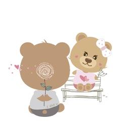 love concept couple teddy bear doll vector image