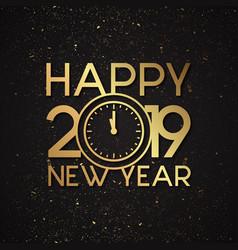 luxury new year 2019 vector image