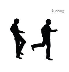 Man in Running pose vector