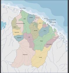 Map french guiana vector