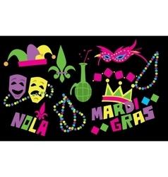 Mardi Gras Icon vector image