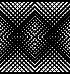 Mesh-grid pattern with crossing diagonal lines vector
