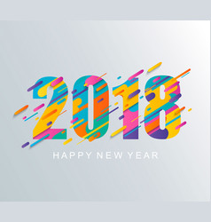 Modern happy new year 2018 design card vector