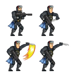 Navy Seal Knife Attack Sprite vector