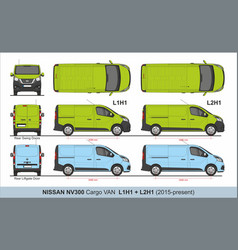 Nissan nv300 cargo van l1h1 and l2h1 2014-present vector