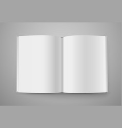 open book mockup ready for a content vector image