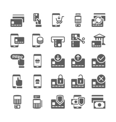 Pay online and mobile banking icons vector