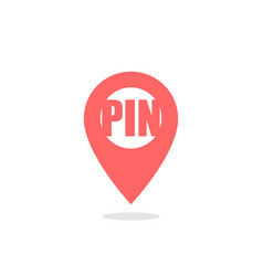 pin - icon location pin map pin icon red color vector image