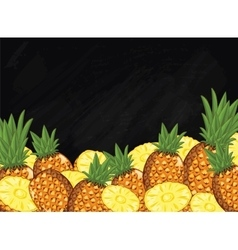 Pineapple fruit composition on chalkboard vector
