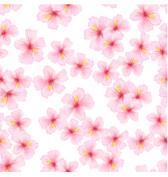 Pink flower sakura seamless pattern japanese vector