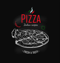 Pizza design template vector