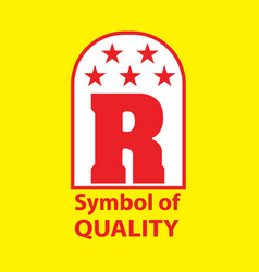 R type logo design with image vector