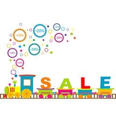 Sale train vector image
