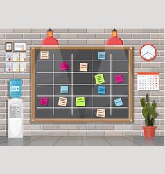 Scrum agile board in office interior vector