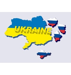 Separate Ukraine spring events in 2014 vector